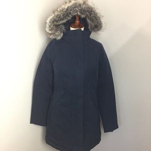 The north face navy blue parka puffer jacket sz M